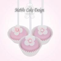12 Blumen Cake Pops (rosa)