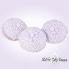 8 Blumen Cupcakes (flieder)