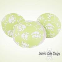 8 Florale Cupcakes (grün)