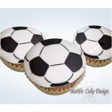 8 Fußball Cupcakes