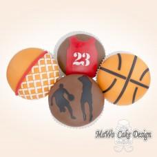 8 Basketball Cupcakes