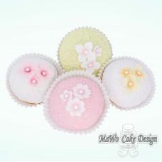 """8 Blumen Cupcakes """"Pastell"""""""