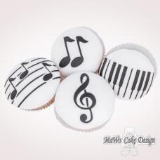 8 Musik Cupcakes