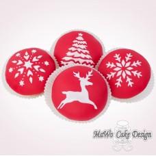 """8 weihnachtliche Cupcakes """"rot-weiß"""""""