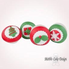 """8 weihnachtliche Cupcakes """"rot-grün"""""""