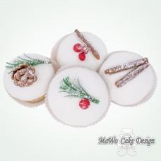 "8 Winter Cupcakes ""Tannenzapfen"""