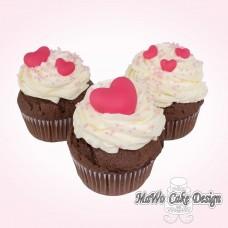 8 Herz Cupcakes