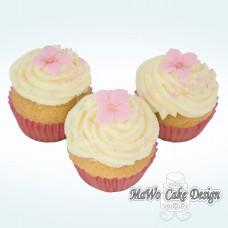 8 Blumen Cupcakes (rosa)