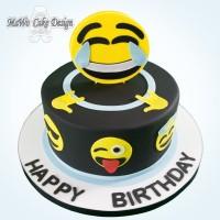Smiley-Torte (blau)