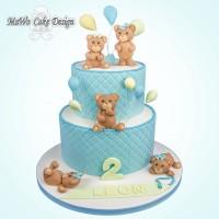 Teddybär-Torte XXL (blau)