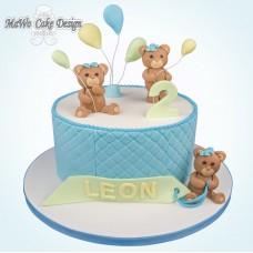 Teddybär-Torte (blau)