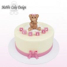 Bärchen-Torte (rosa/gelb)