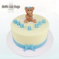 Bärchen-Torte (blau/gelb)