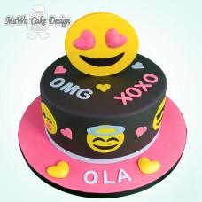 Smiley-Torte (pink)