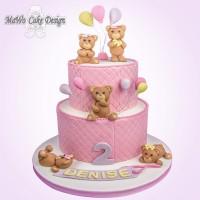 Teddybär-Torte XXL (rosa)