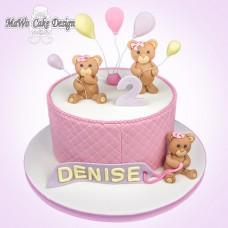 Teddybär-Torte (rosa)