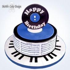 Happy Birthday-Torte (blau)