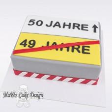 Verkehrsschild-Torte