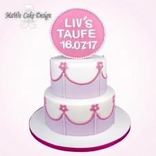 """Tauf-Torte """"Blume XXL"""""""
