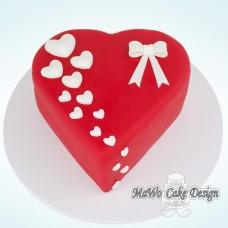 Herz-Torte mit Schleife (klein)