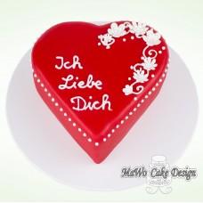 """""""Ich Liebe Dich"""" Torte (klein)"""