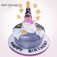 Champagner-Torte (rosa)