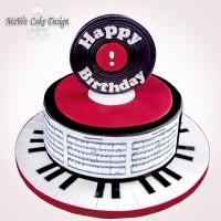 Happy Birthday-Torte (rot)