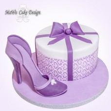 High Heel-Torte (lila)